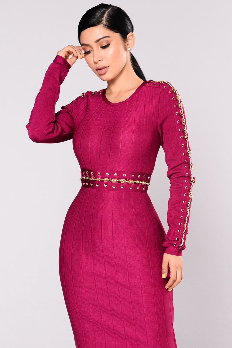 Camryn Bandage Dress - Magenta