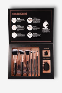 Profusion Cosmetics: Professional Brush Vault - Black/Gold Angle 1