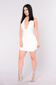 Kenji Halter Dress - White