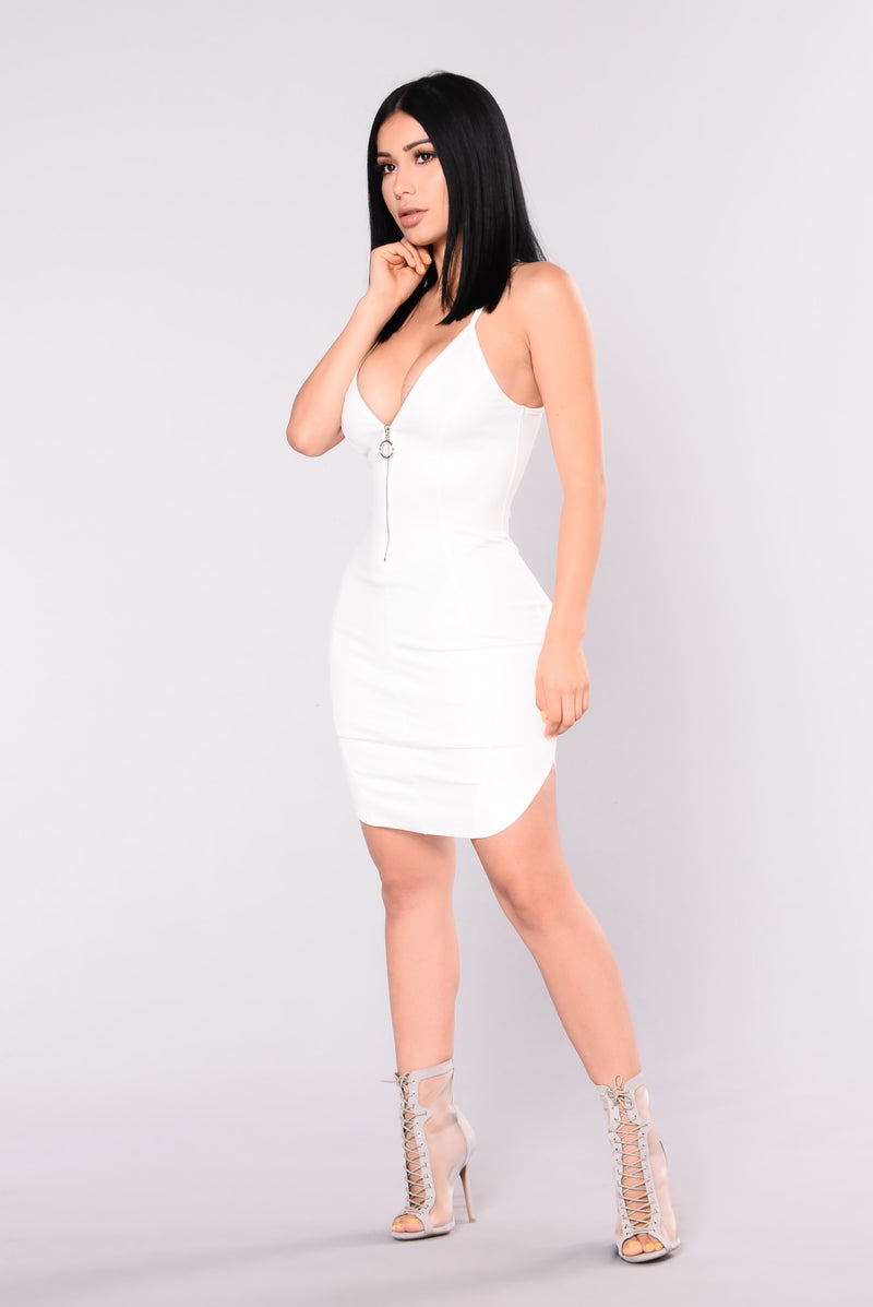 Griselda Racerback Dress - White