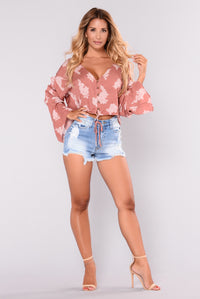 Rivers Crop Top - Mauve