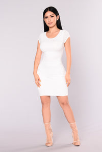 Loretta Bodycon Dress - Ivory