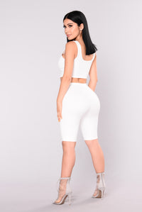 Bondoc Biker Short Set - White