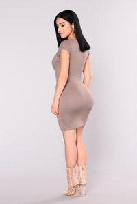 Loretta Bodycon Dress - Mocha