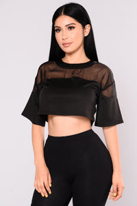 Hendrix Crop Top - Black