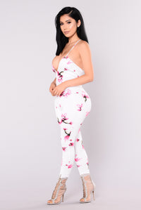 Inhale Exhale Jumpsuit - Ivory