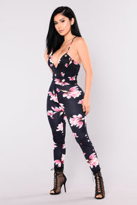 Inhale Exhale Jumpsuit - Navy