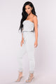 Kendra Jumpsuit - Heather Grey