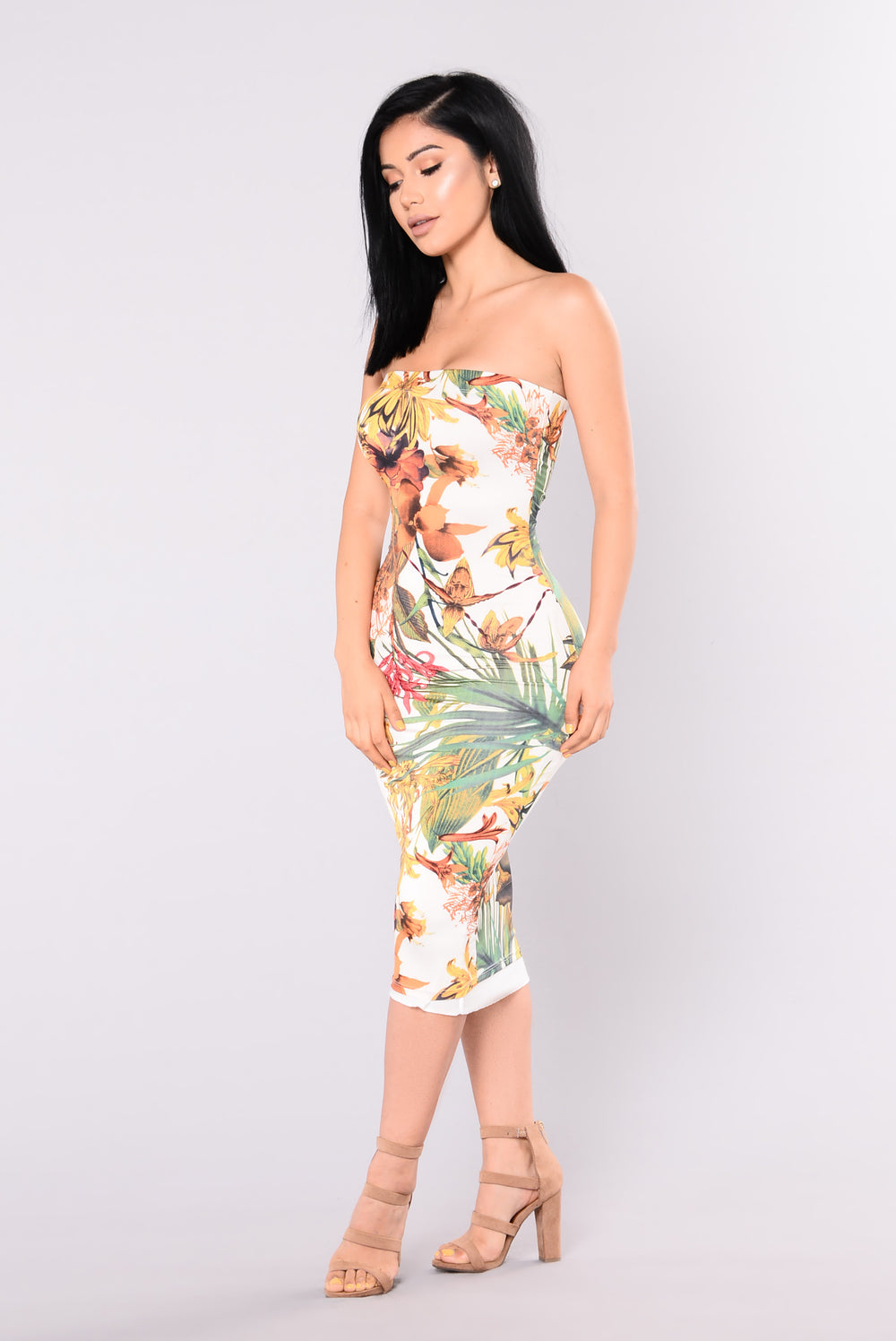 Havana Mama Floral Dress - Ivory