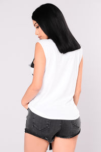 Shooting Star Fringe Top - White
