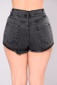 Longest Summer Denim Shorts - Charcoal/Black