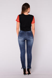 Without A Trace Jeans - Dark Blue