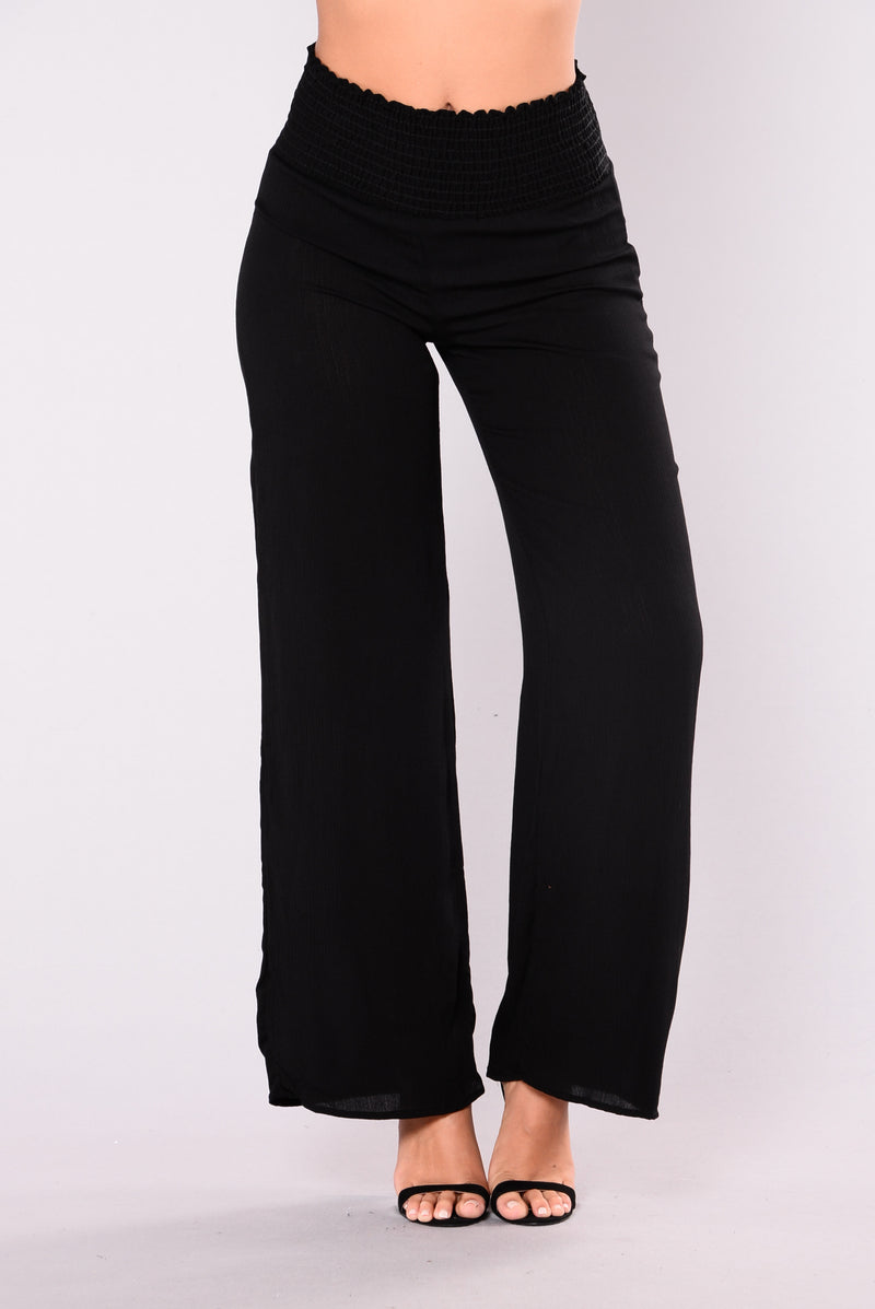Glamour Wide Leg Pants - Black