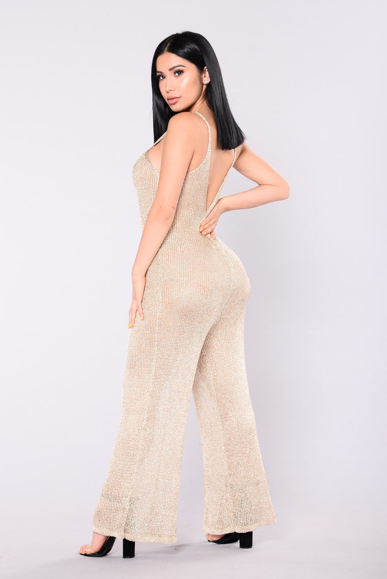 Jaylah Metallic Jumpsuit - Gold
