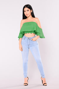 Anabelle Off Shoulder Top - Green