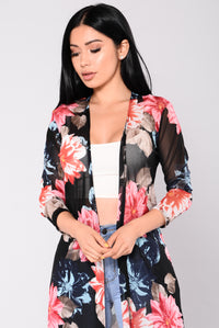 Diana Tropical Duster - Black
