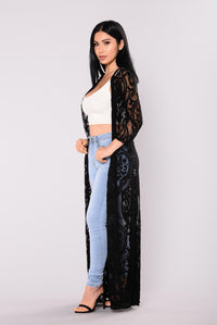 Mary mesh Duster - Black