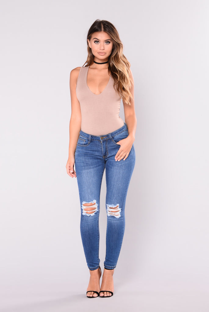 Kennie Skinny Jeans - Medium Blue