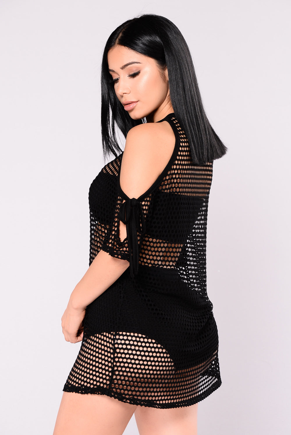Appeal Play Fishnet Top - Black