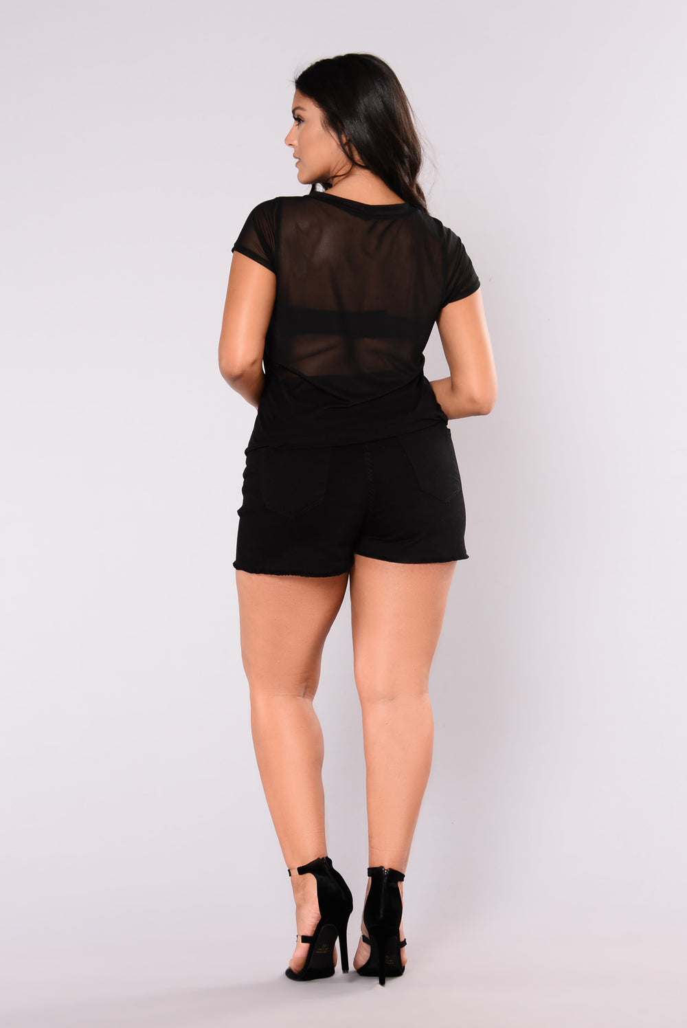 Spotted Night Owl Mesh Tee - Black