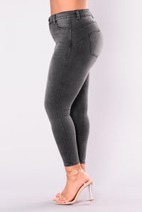 Anaconda Booty Shaping Jeans - Charcoal