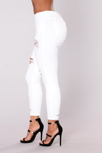 Seek And Distress Jeans - White