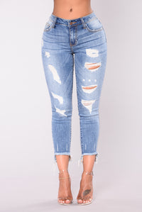 All Messed Up Jeans - Medium Wash