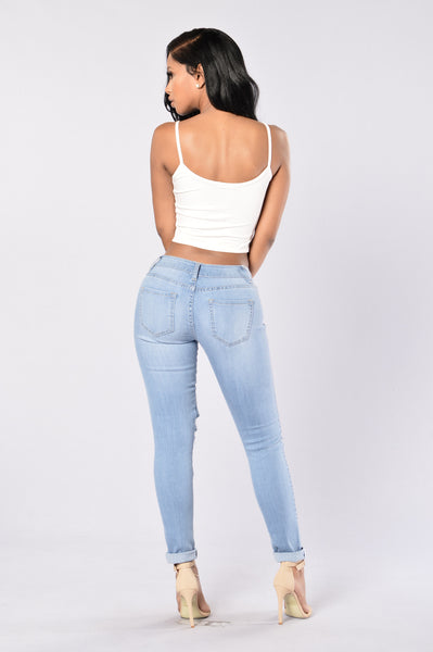 Hole Heartedly Jeans - Light