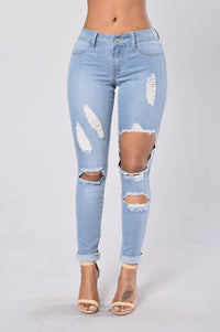 Hole Heartedly Jeans - Light Angle 1