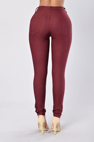 High Roller Pants - Burgundy