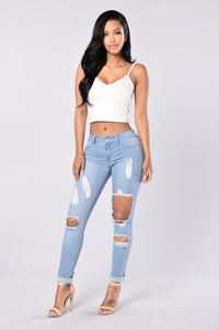 Hole Heartedly Jeans - Light Angle 4