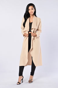 Business Casual Coat - Khaki Angle 4