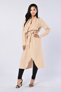 Business Casual Coat - Khaki Angle 1