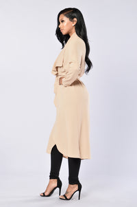 Business Casual Coat - Khaki Angle 3