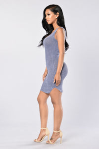 Washed Ashore Dress - Navy