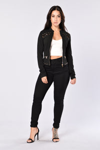 Fall In Line Jacket - Black Angle 4