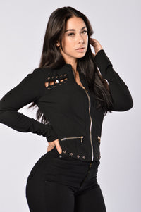 Fall In Line Jacket - Black