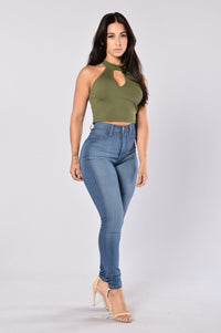 On a Tuesday Top - Olive