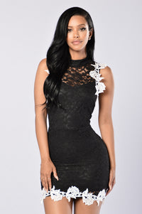 Lacey Dreams Dress - Black Angle 1