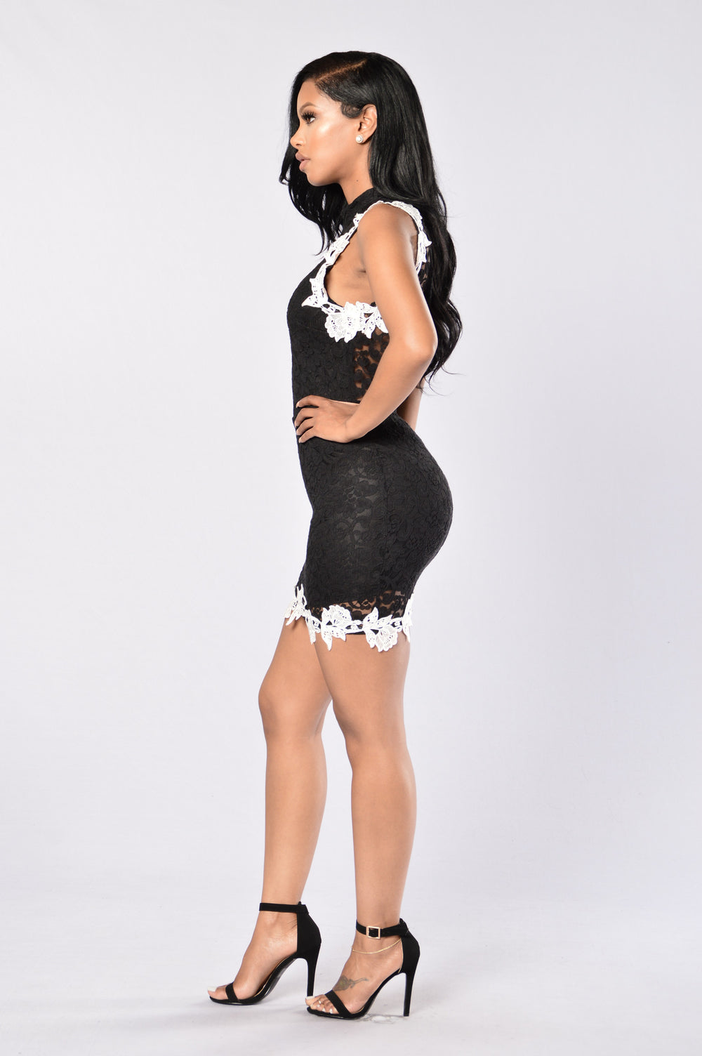 Lacey Dreams Dress - Black