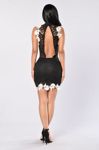 Lacey Dreams Dress - Black Angle 5