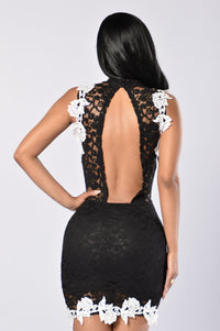 Lacey Dreams Dress - Black Angle 2