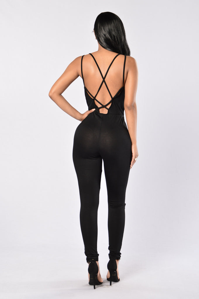 Daily Dose Jumpsuit - Black
