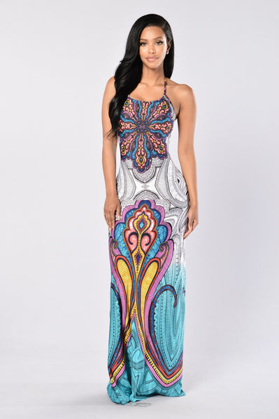 Color Me Wild Dress - Teal