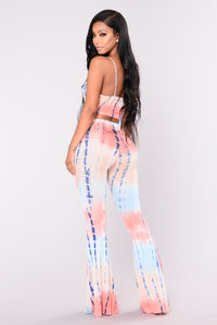 Get Some Tie Dye Set - Blue/Coral
