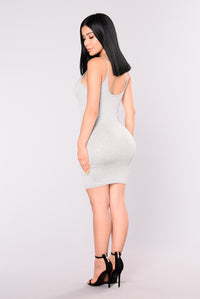 Nova Season Dress - Heather Grey Angle 3