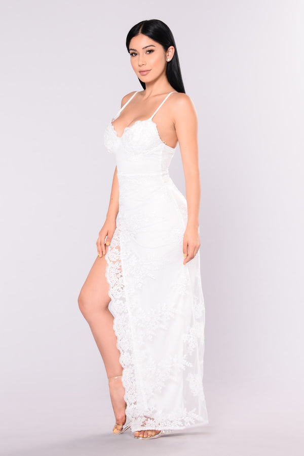42fa52ccb23 A Night In Tokyo Lace Dress - White