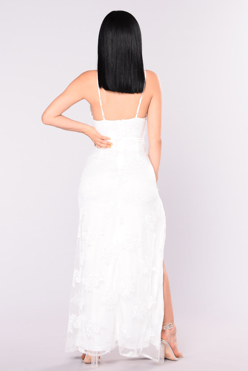 A Night In Tokyo Lace Dress - White