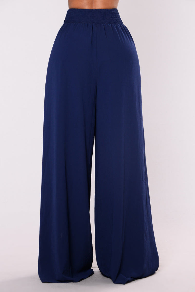 Mason High Waist Pants - Navy