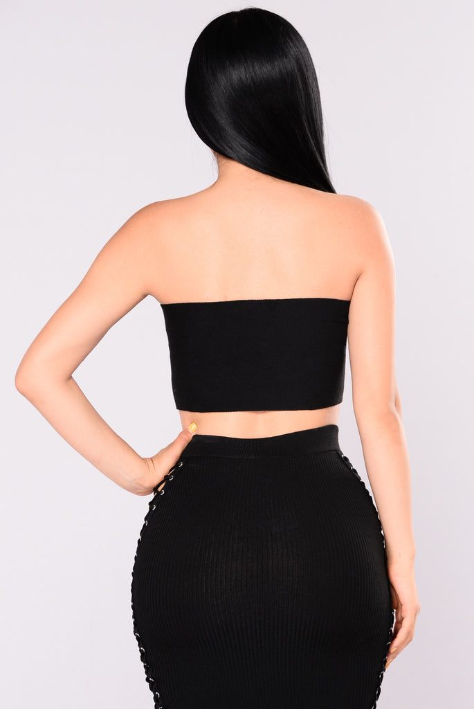 Valeria Tube Top - Black